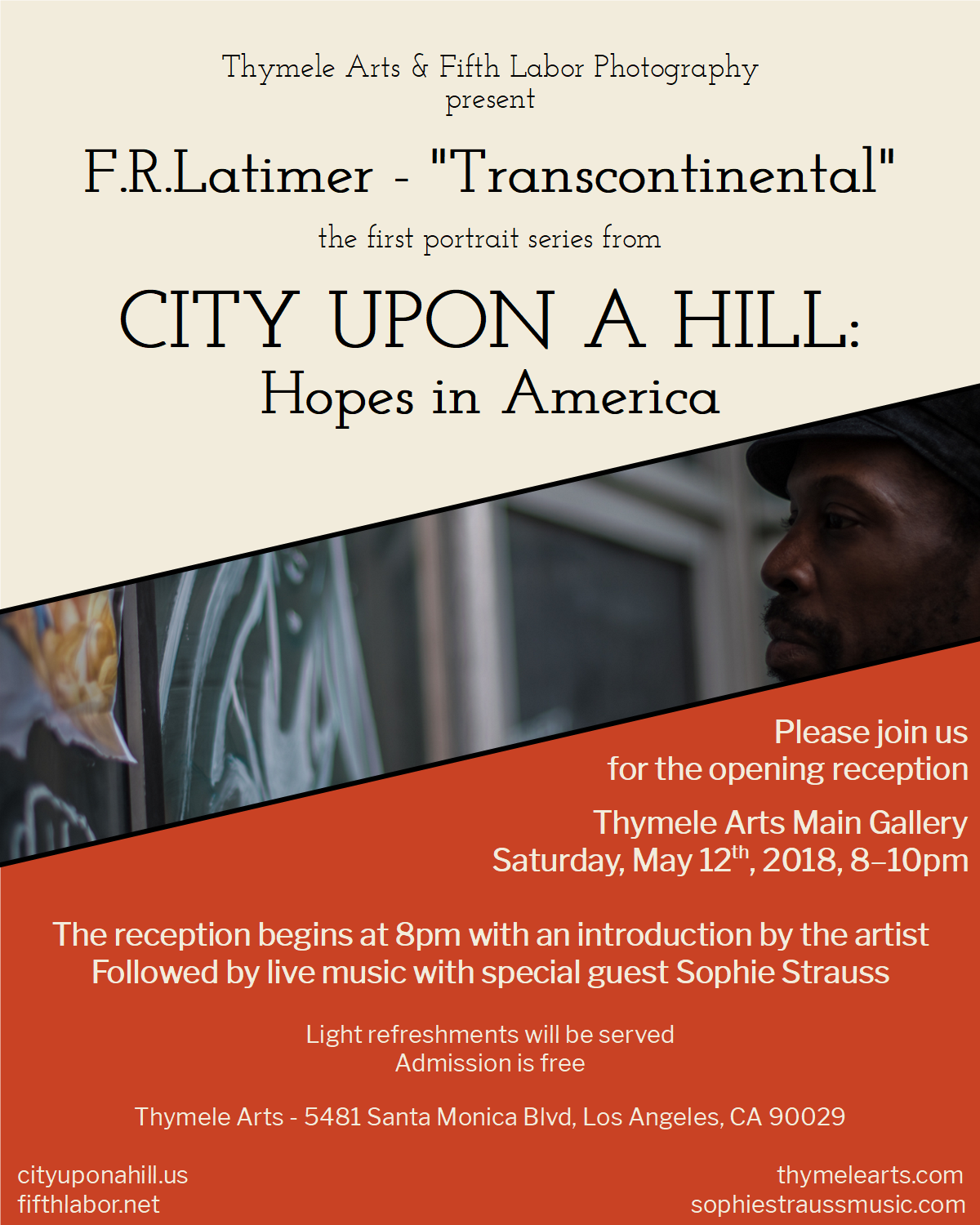 F.R.Latimer Photographer - City Upon a Hill Reception, May 12th 8pm